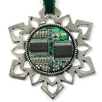 ChipScapes Set  #5:  Computer Circuit Boards with Chips (3 Ornaments)