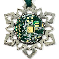 ChipScapes Set #6:  Computer Circuit Boards (3 Ornaments)