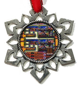 ChipScapes Set  #1:  Art with Computer Chips (3 Ornaments)