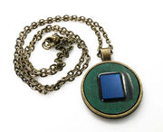 Intel Pentium Microprocessor Necklace - Green/Blue/Bronze