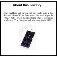 Item019: Silicon Wafer Pendant -  Silver, Purple, Rainbow Colors