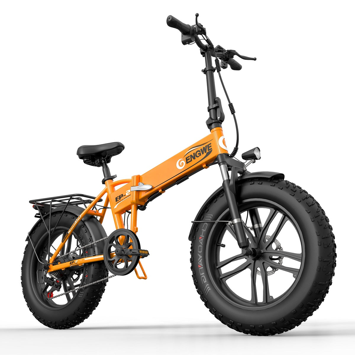 orange fat tire electric bike