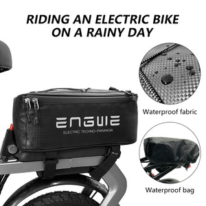 ENGWE Folding Full Suspension Electric Mountain Bike with 21 Speed and Duel Disc Brake