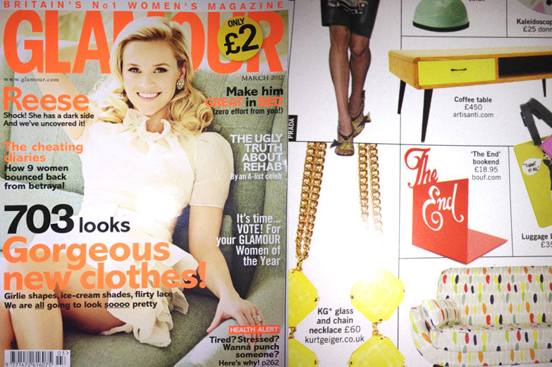 Glamour Magazine Bookend