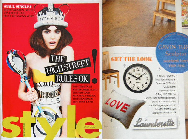 Sunday Times Style - Launderette Sign