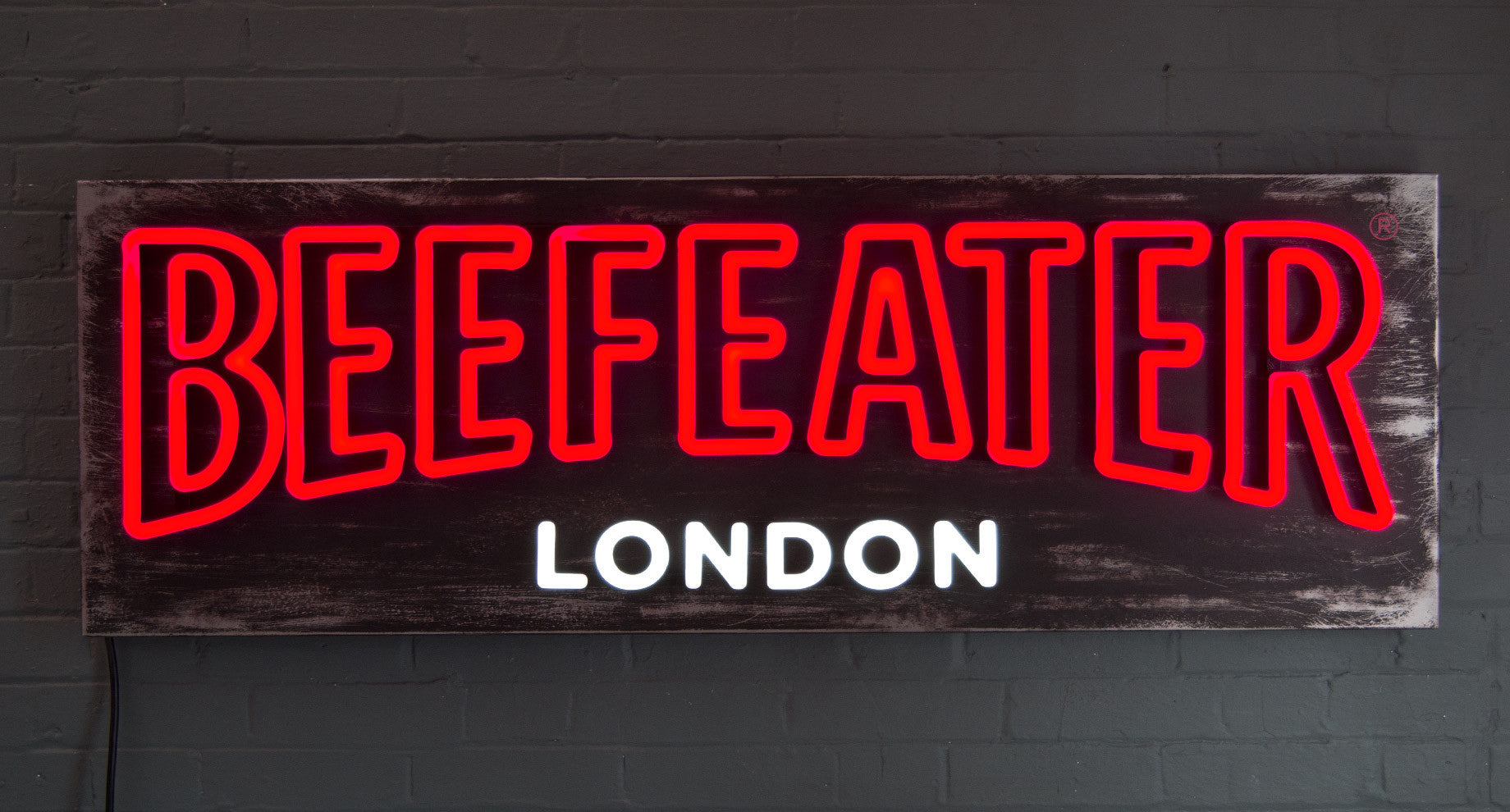 Beefeater LED neon sign