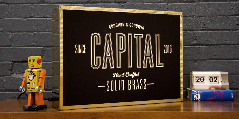 Brass Light box