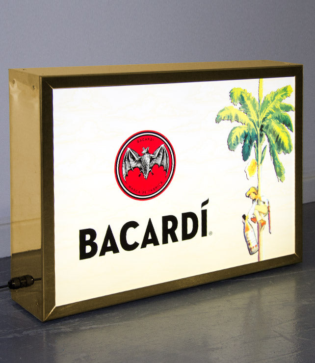 Brass Light Box for Bacardi
