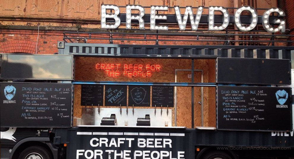 Brewdog Truck Sign
