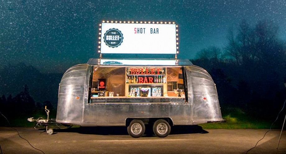 The Bullet Bar Airstream Illuminated Light Box Sign Street Food Truck London