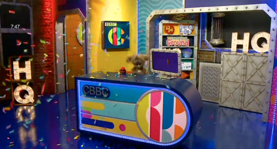 CBBC's HQ Light up letters