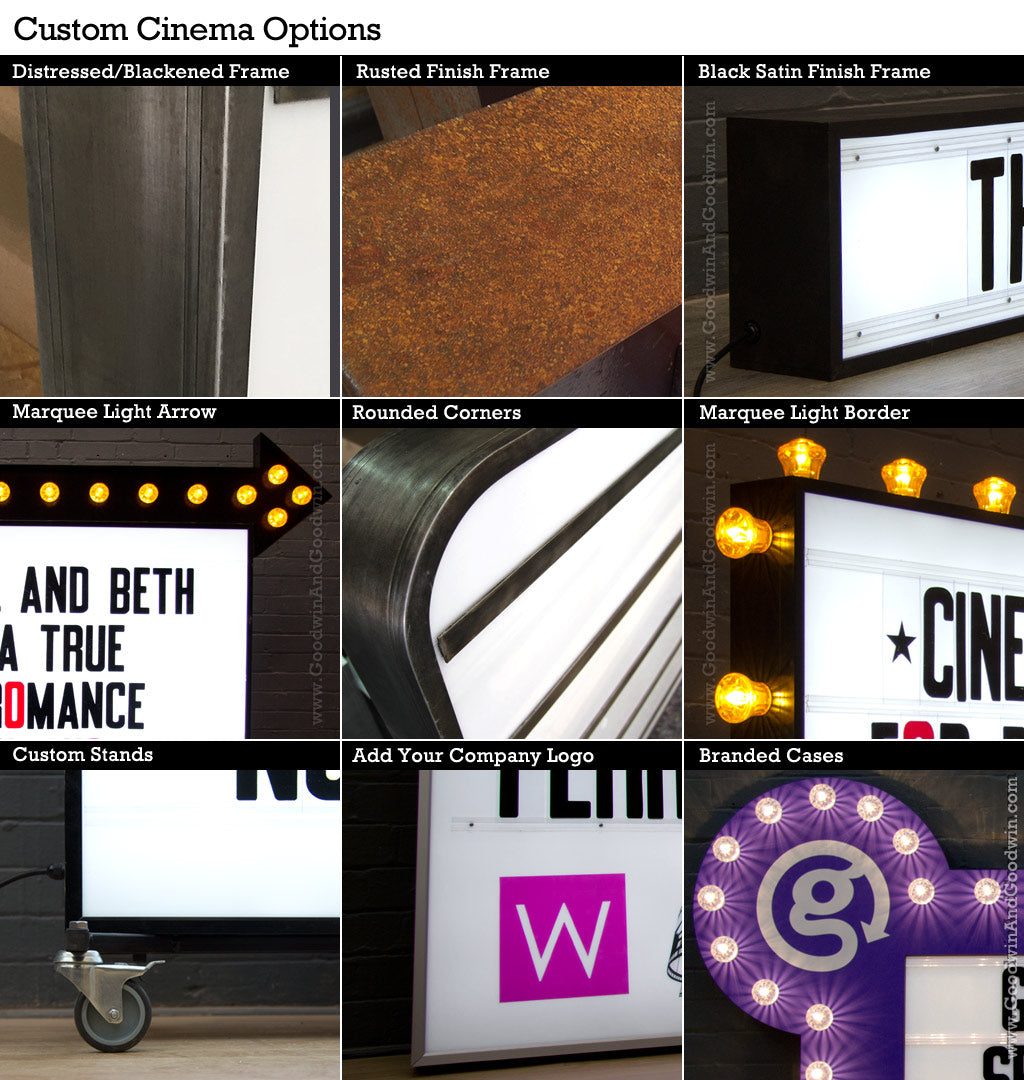 Custom Cinema Signs