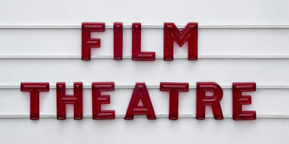 cinema sign with border
