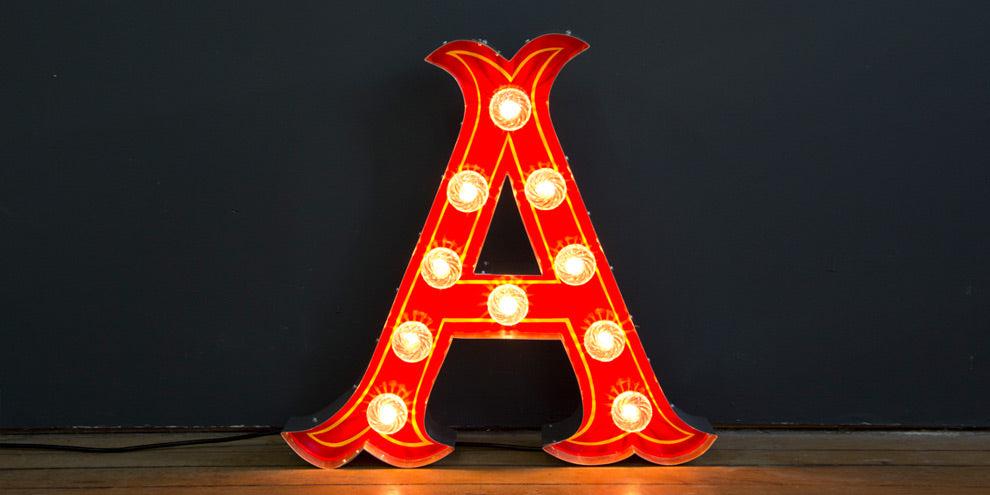 Vintage Circus Letters