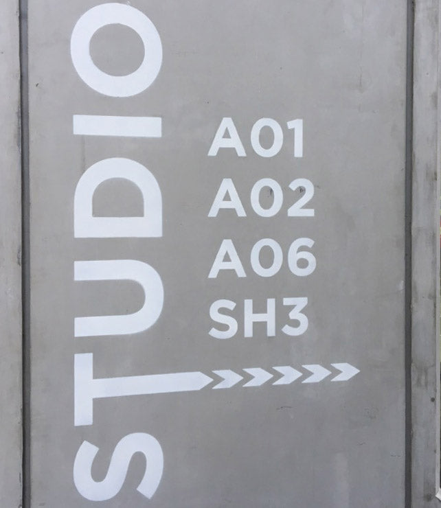 Painted Wayfinding Signs