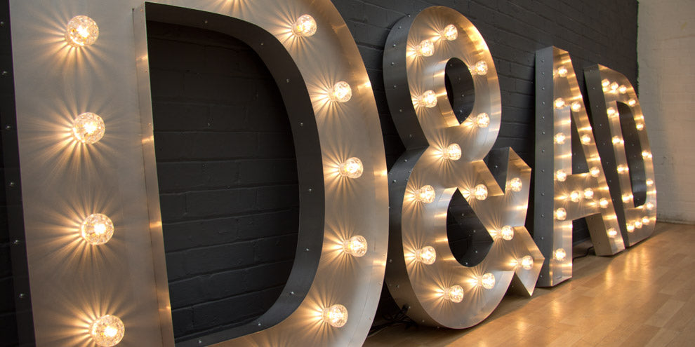 D and AD awards light up letters
