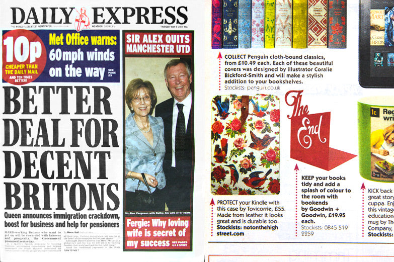 Daily Express Bookend