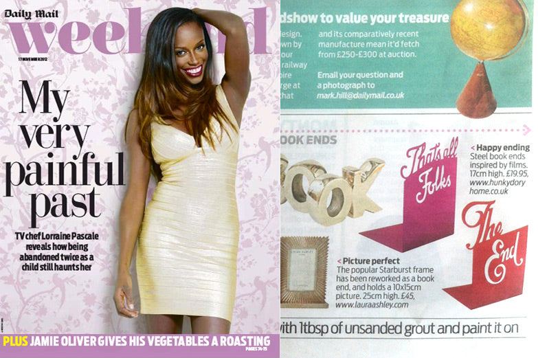 Daily Mail Weekend Bookends November 2012