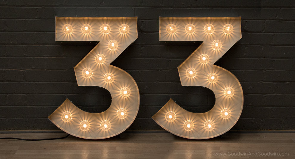 fairground lights numbers