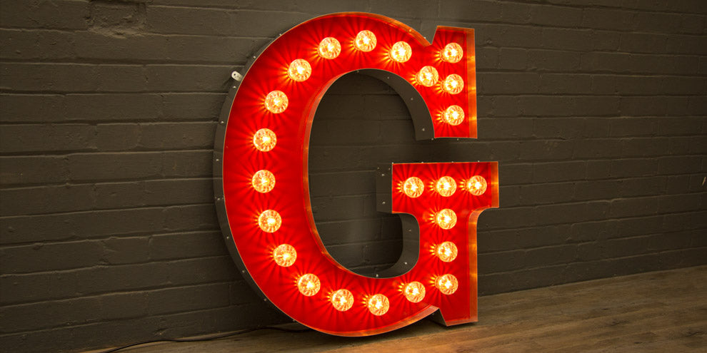 Festoon Light Letters