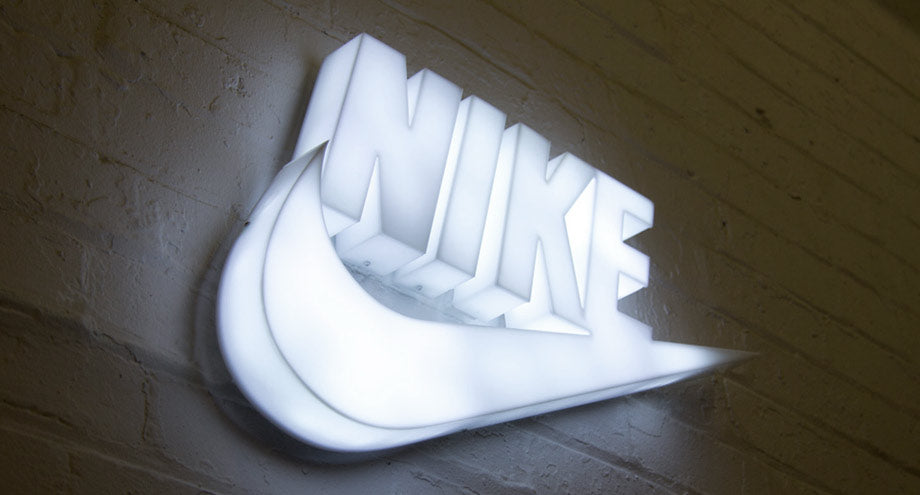 Illuminated Nike Sign