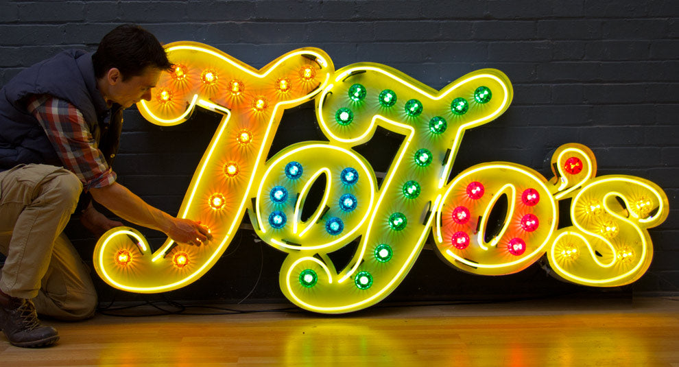 Neon Fairground Sign
