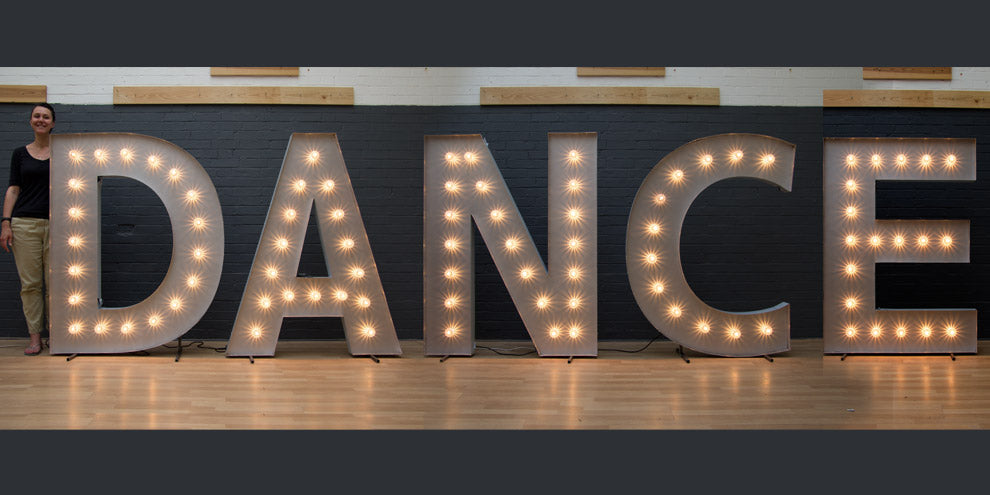 large light up dance letters
