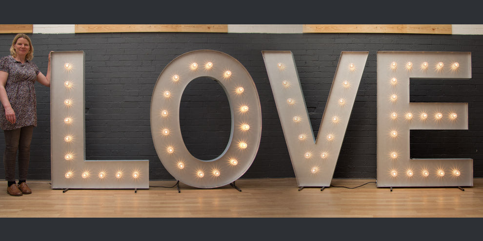 large light up LOVE letters