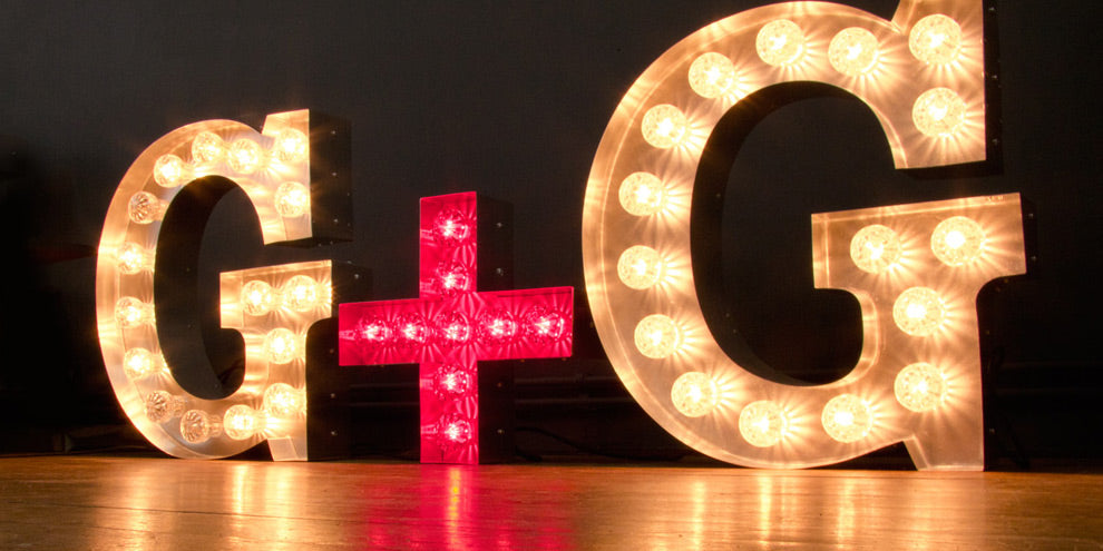 Marquee Light Letter G