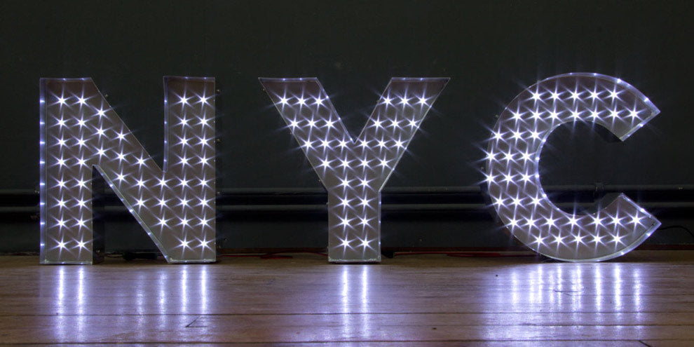 LED NYC sign