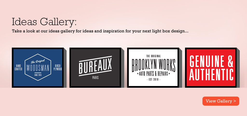 Light box ideas gallery