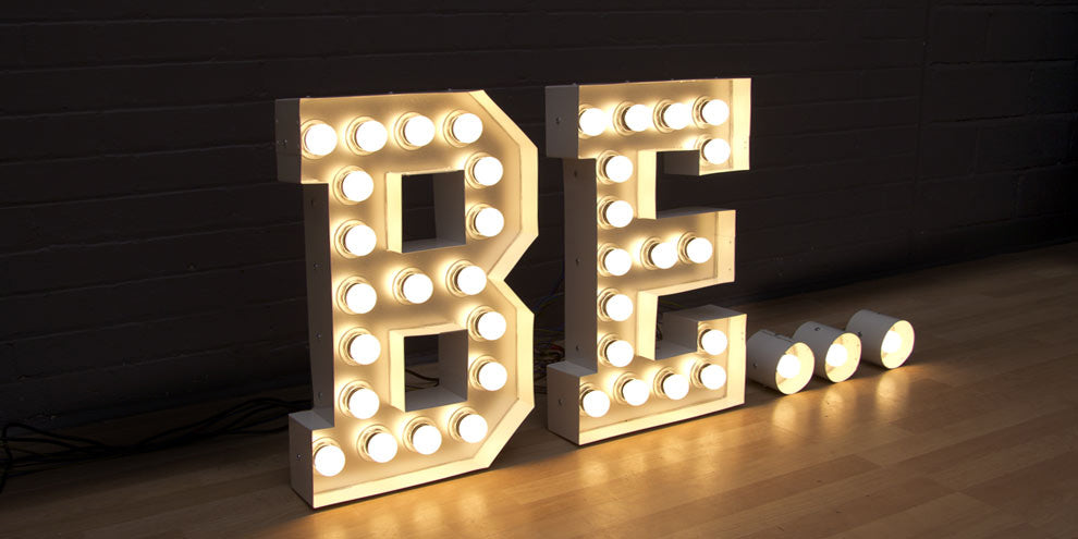 light up bulb letters UK