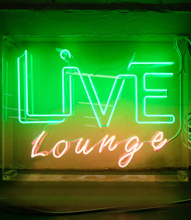 Live Lounge Neon Sign