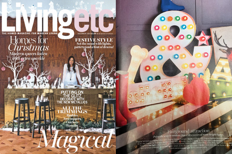 Living Etc December 2014 - Light Letters
