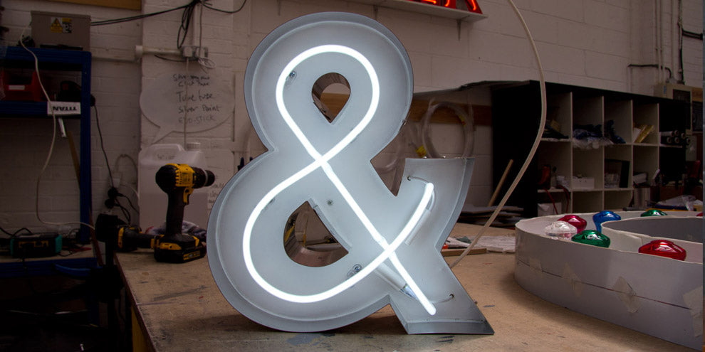 Neon Ampersand Sign
