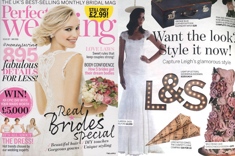 perfect wedding magazine Light Letters