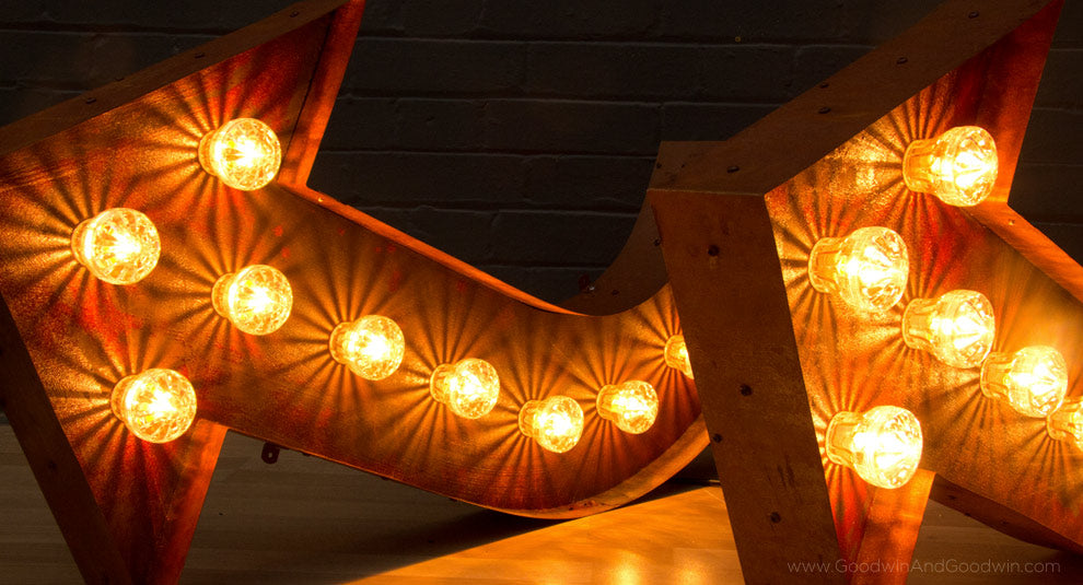 rust arrow lights