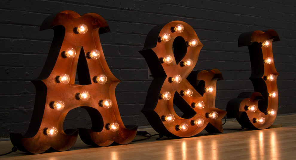 Rust Light Letters