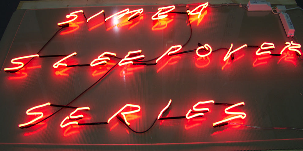 Neon Hand writing sign