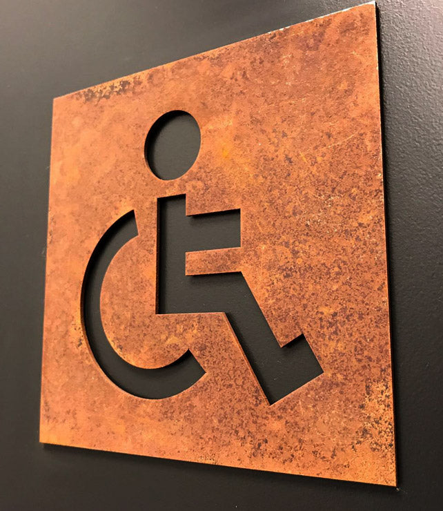 Rusted Toilet sign