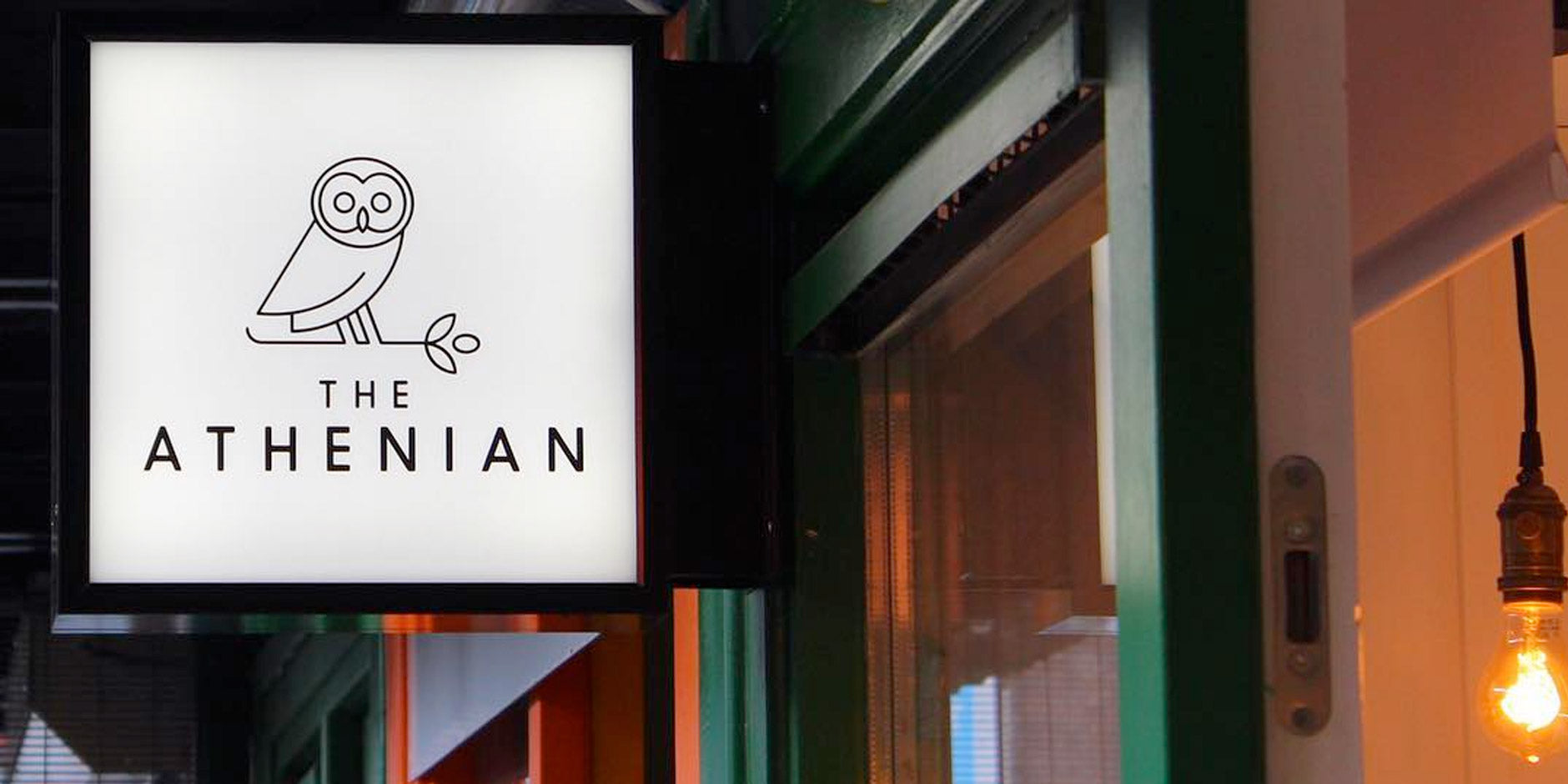 the anthenian restaurant sign