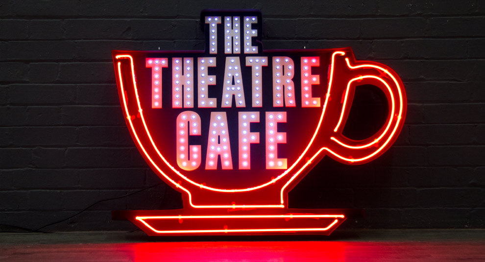 The Theatre Cafe Sign