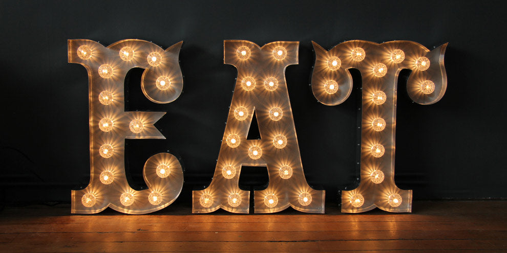 Vintage circus light letters