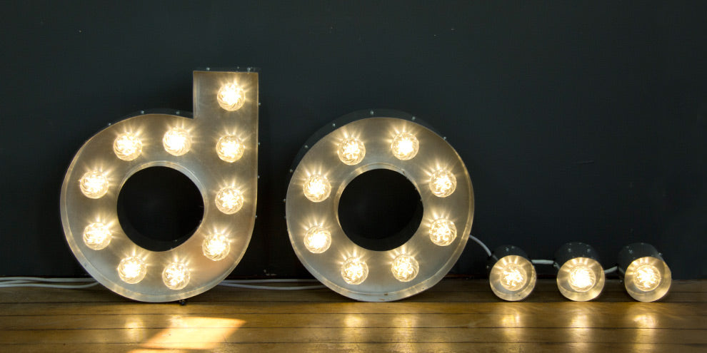 Illuminated Bulb Letters London