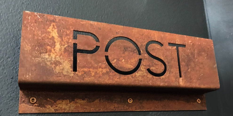 Rusted Post sign