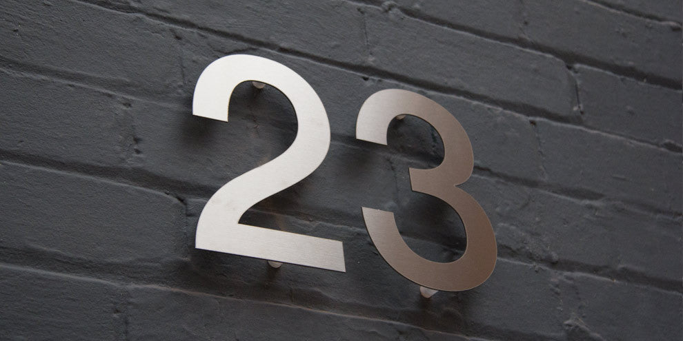 Modern House Numbers, Stainless Steel House Numbers ...