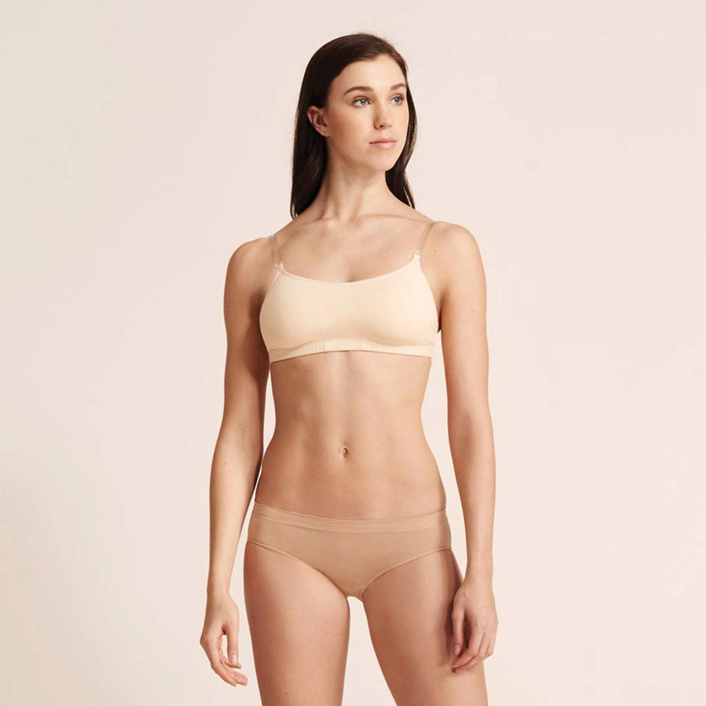 Capezio Camisole Bratek With Clear Back Strap 3564