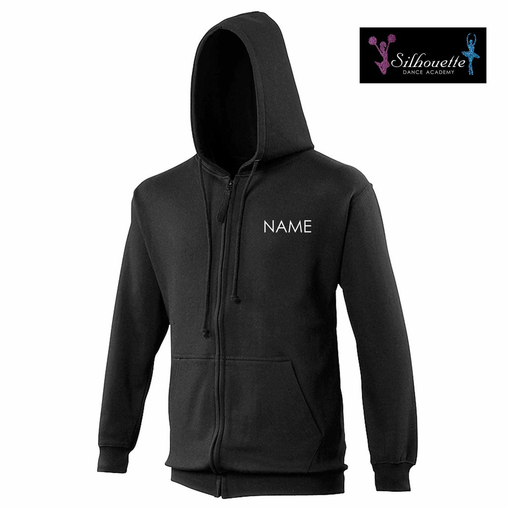 Silhouette Dance Academy Adult Black Zipped Hoodie