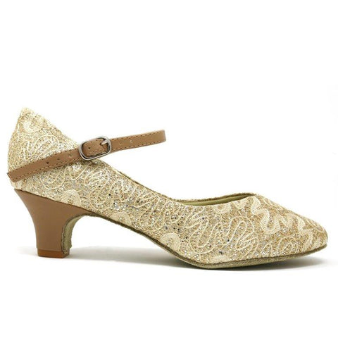 SoDanca Glitter Fabric Comfort Ballroom Shoes BL-116