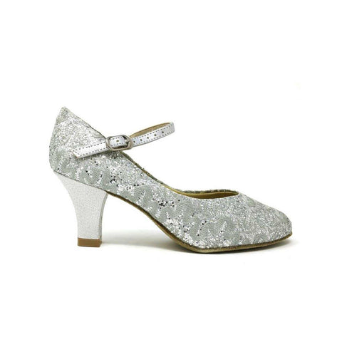 SoDanca Glitter Fabric Ankle Strap 2 1/2